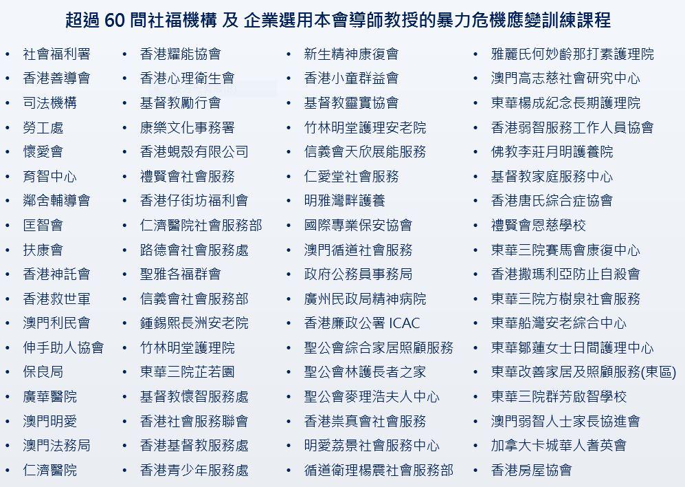60 NGO (Violence) 脫身法課程